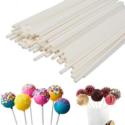 - Lollipop Sticks 100Pcs Candy Making Sucker Sticks 6 Inch for Cake Pop,DIY Homemade Fruit Candy,Chocolate