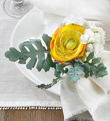 fenncostyles. Com Ranunculus人工花ナプキンrings-setの4 2.5
