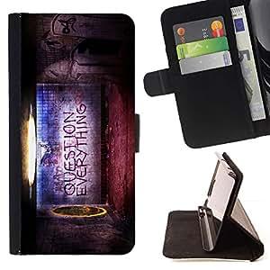 Momo Phone Case / Flip Funda de Cuero Case Cover - Pregunta todo cita Creencia Vida Mundial - Sony Xperia Z2 D6502