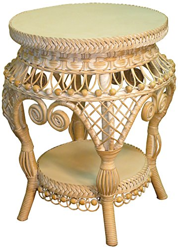 Spice Islands AET-W/W Antique End Table, Whitewash