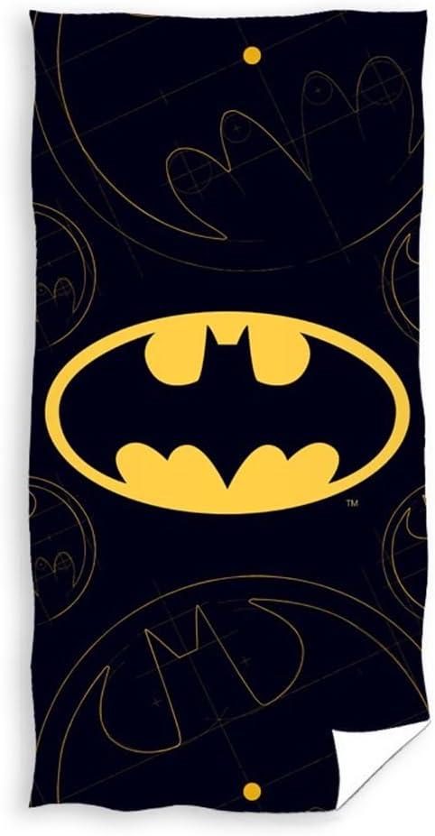 Batman Serviette de Bain 100/% Coton 70x140cm BAT163008-R