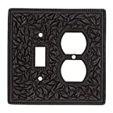 Vicenza Designs WPJ7000 San Michele Wall Plate with Jumbo Outlet and Toggle Opening, Oil-Rubbed Bronze