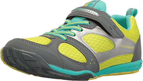 (TSUKIHOSHI Kids Girl's Mako H&L 2 (Little Kid/Big Kid) Gray/Mint Sneaker)