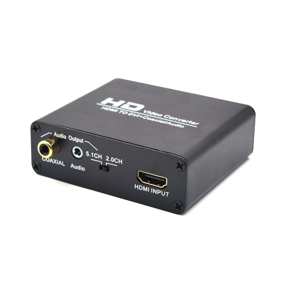 HDMI to DVI With a high-definition video converter Coaxial Coax / Analog Stereo Audio Converter Adapter
