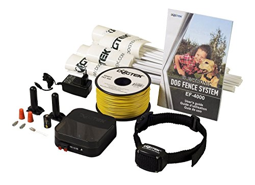 Electric Dog Fence - DOGTEK Underground Pet Containment System - 1 Dog Kit - 500' Perimeter Wire (1/2 Acre)