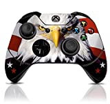 (USA Eagle) Custom Xbox One Controller with Exclusive Design Vinyl Skin Decal Uniquely Hand Painted and Air-Brushed For Sale