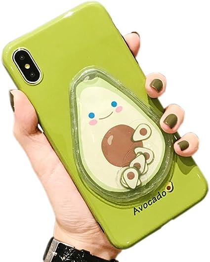 SGVAHY Coque pour iPhone 6/6s Motif Avocat 3D mignon amusant Sable Quicksand Squeeze Soft Silicone Coque de protection antichoc pour iPhone 6/6s ...
