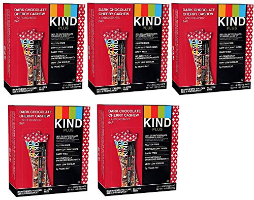 KIND Bars, Dark Chocolate Cherry Cashew + Antioxidants, Gluten Free, 1.4oz (60 Bars) by KIND Bar (Image #1)