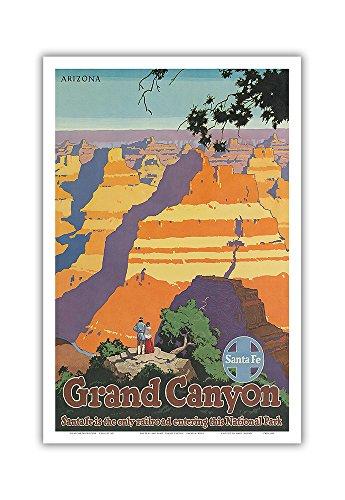 Pacifica Island Art Arizona - Grand Canyon National Park - Santa Fe Railroad - Vintage Railroad Travel Poster by Oscar M. Bryn c.1950s - Master Art Print - 12in x 18in ()
