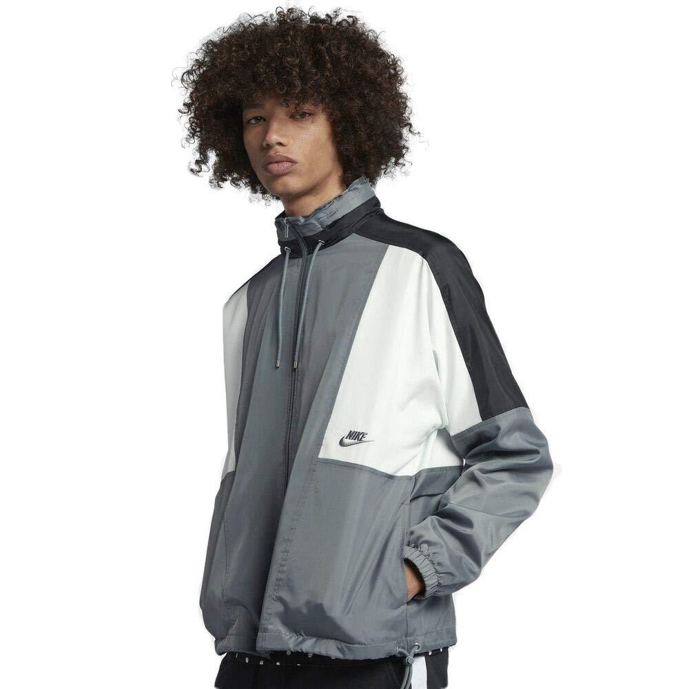 Nike Sportswear Woven Men's Jacket (Cool Grey/Black/Summit White/Cool Grey, Small)