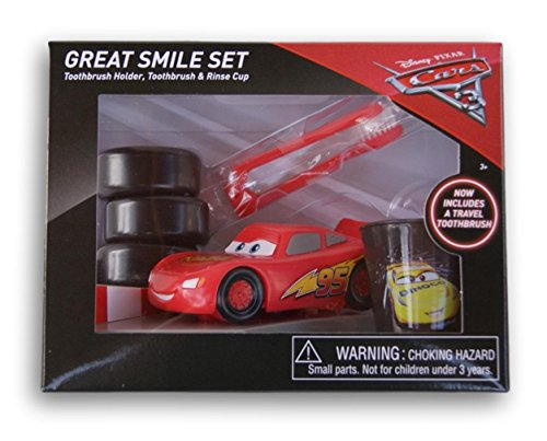 Cars Great Smile Set - Toothbrush Holder, Toothbrush & Rinse Cup