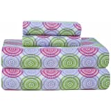 pointehaven heavy weight printed flannel twin extra long sheet set starburst print