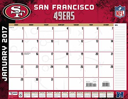 """Turner Licensing Sport 2017 San Francisco 49ers Desk Pad Calendar, 22""""X17"""" (17998061551)"""