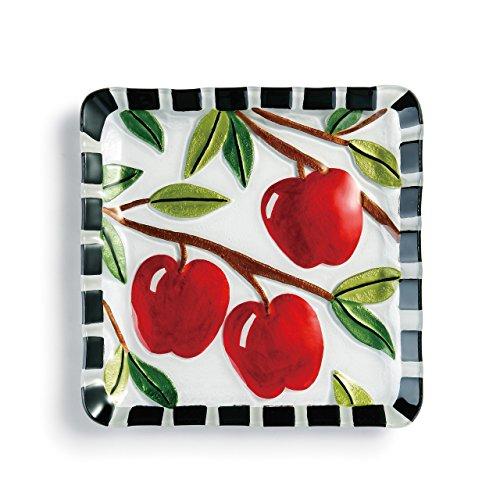 DEMDACO Apples Square Plate-11 sq