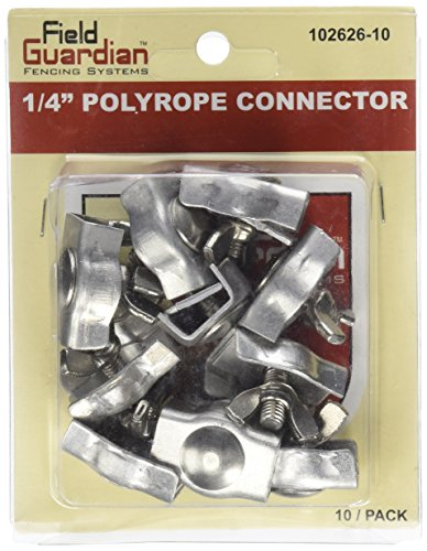 (Field Guardian 10-Pack Polyrope Connector, 1/4-Inch )