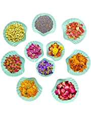 Natural Dried Flowers- Gift Box - 10 Bags Floral Kit for Candle, Bath Bomb, Soap, Resin, Greeting Card,Bookmark Making, Include Rosebuds,Jasmine,Rose Petals,Lavender and More