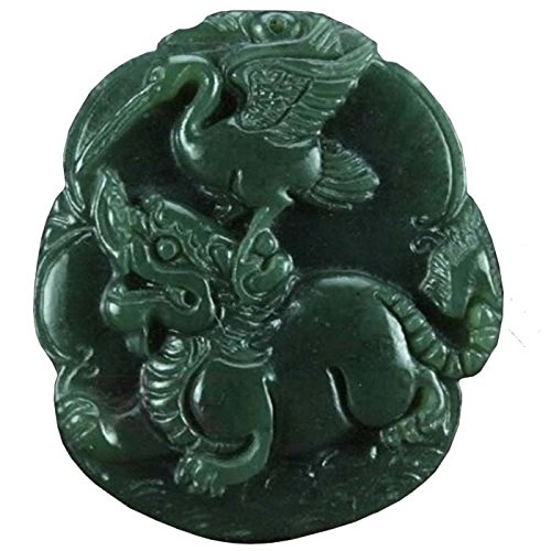 chinese-culture-white-jade-lucky-god-green-rune-carving-pendant-set7