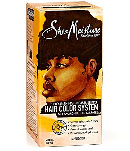 Shea Moisture Certified Organic Medium Brown Hair Color Syst