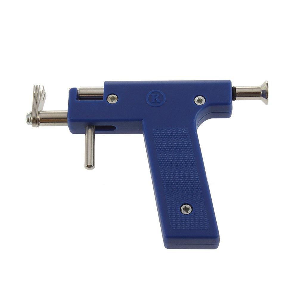 SGerste Juego de pistola de piercing para oreja nariz y ombligo con 98 pendientes