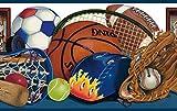Chesapeake BBC92211B Doug Sports Portrait Wallpaper Border, Blue