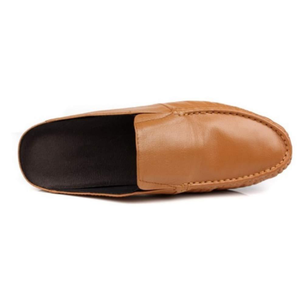 Sommer Männer Baotou Weiche Sandalen Bequeme Beiläufige Stilvolle Weiche Baotou Unterseite Leder Earthyyellow 223340
