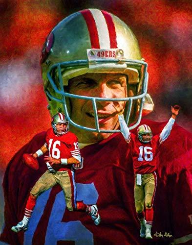 Joe Montana San Francisco 49ers QB Quarterback NFL Football Art Print 11x14-24x30