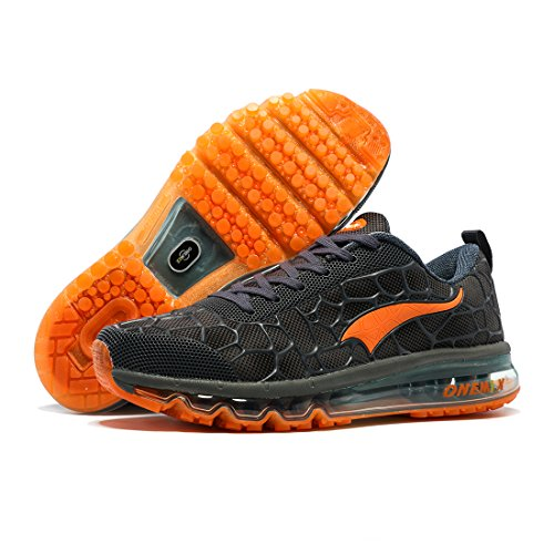 Fitness pour Bleu ONEMIX Running Lac Hommes Orange Sneaker de Athlétique Baskets Max Coussin Sport Air Marche Chaussures et Course Femmes U6vqUw