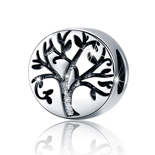 PHOCKSIN Family Tree of Life 925 Sterling Silver Charms Bead for Bracelet Mother's Day for Mom Wife Simple Jewelry