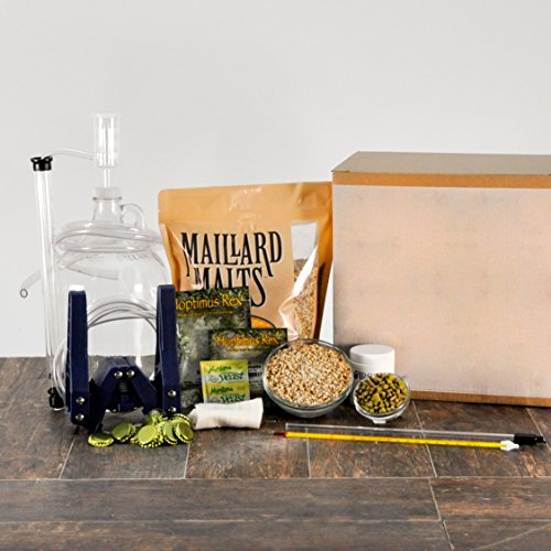 KickAss American Wheat 1 Gallon All Grain Micro Bru Home Brewing Equipment Kit with Beer Recipe Kit (Small Beer Brewing Kit compare prices)
