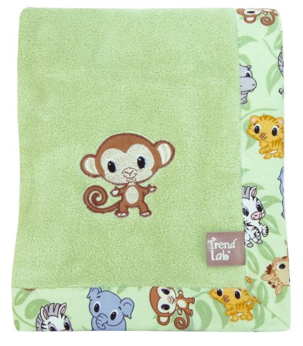 Trend Lab Framed Receiving Blanket, Chibi Zoo, Riley Tiger (Chibi Zoo)