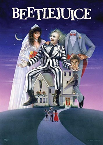 MightyPrint Beetlejuice – Movie Poster Art Wall Art – Paperless lasting light catching décor
