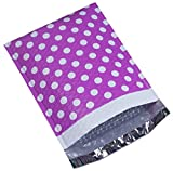 UCGOU #2 8.5x12 Inch Purple Dot Padded Envelopes Water Proof Poly Bubble Mailers Self Seal Mailing Envelopes Pack of 25