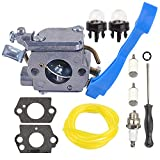 Mckin Carburetor with Adjustment Tool Kit Screwdriver Primer Bulb for Husqvarna 125B 125BX 125BVX ZAMA C1Q-W37 545081811