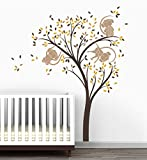 Monkey Tree Baby Nursery Wall Decal by LittleLion Studio