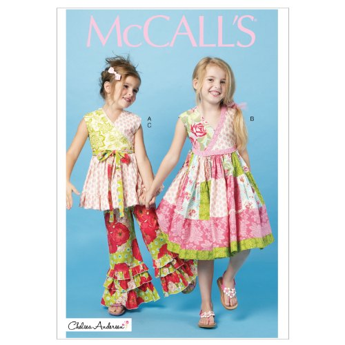 Pattern Girls Top - McCall's Patterns M6497 Children's/Girls' Top, Dress and Pants, Size CL (6-7-8)