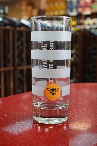 Jack Daniel's Honey Whiskey Highball Glass, with Bee Logo