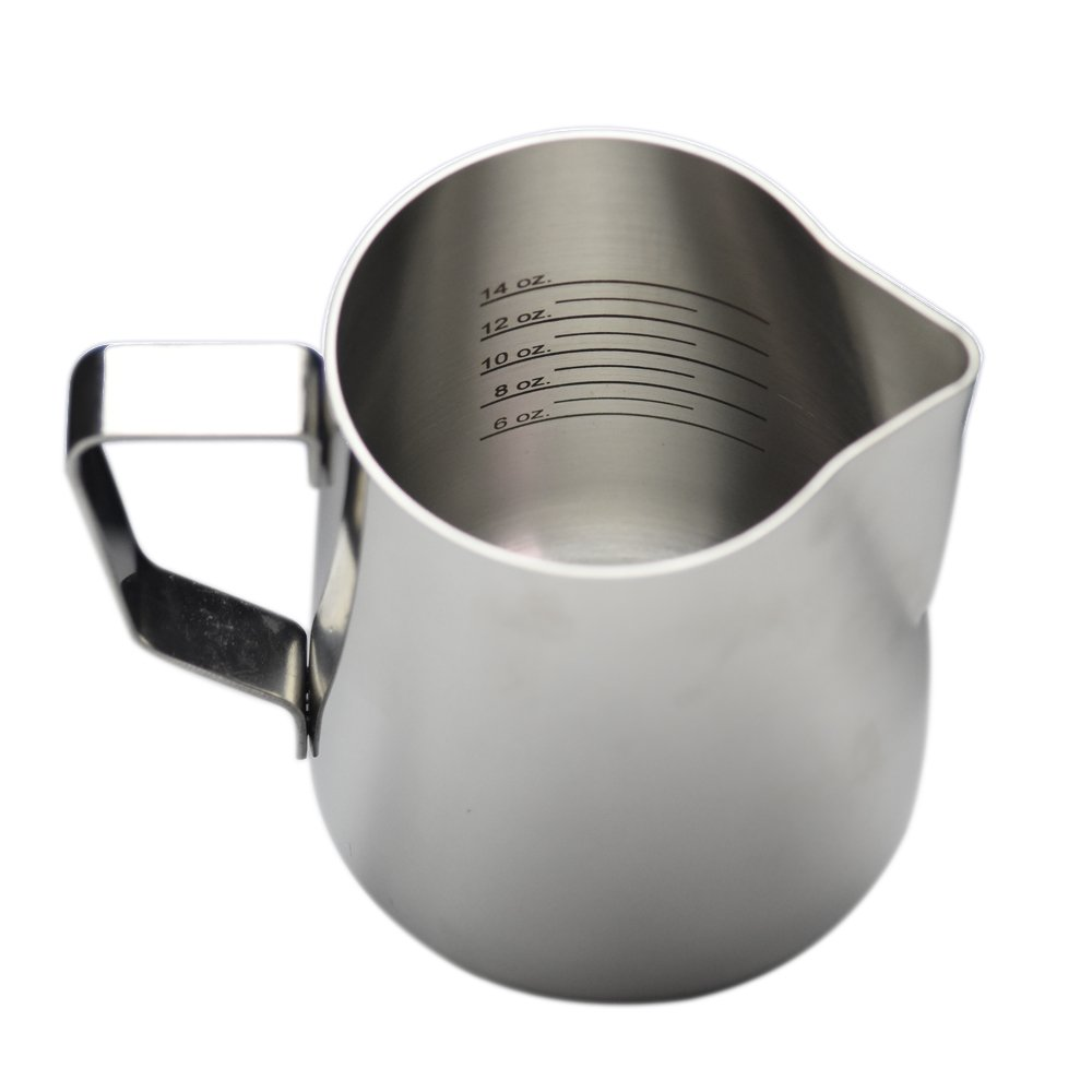 20 oz Stainless Steel Frothing Pitcher with Graduated Interior Markings