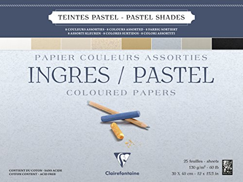 Clairefontaine : Ingres Glued Pastel Pad 30x40cm : 25s : Neutral Colours