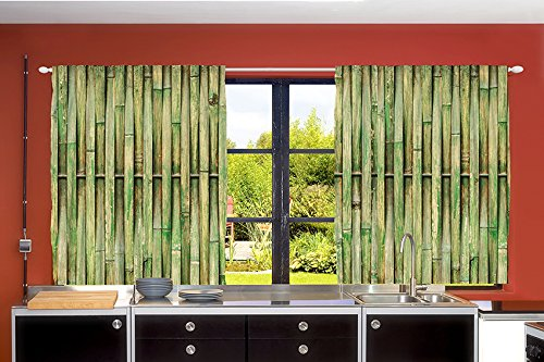 bamboo kitchen curtains - 3