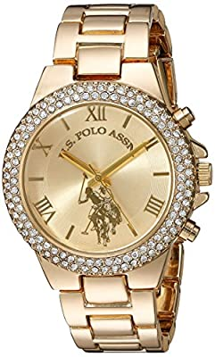 U.S. Polo Assn. Women's Quartz Metal and Alloy Casual Watch, Color Gold-Toned (Model: USC40032) from Accutime Watch Corp.
