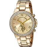 Women's Quartz Metal and Alloy Casual Watch, Color:Gold-Toned (Model: USC40032)