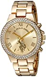U.S. Polo Assn. Women's Quartz Metal and Alloy Casual Watch, Color Gold-Toned (Model: USC40032)
