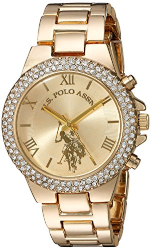 U.S. Polo Assn. Women's Quartz Metal and Alloy Casual Watch, Color:Gold-Toned (Model: - Polo Watch Big