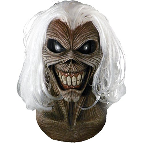 Trick or Treat Studios Iron Maiden Killers Full Head Mask, Grey White, One-Size (Trick Or Treat Costumes)