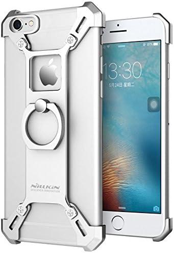 for iPhone 6 6s Case, Nillkin Barde Metal Case [Unique Design] Aircraft Grade Aluminum Zinc Alloy Assembled Metal Bumper Frame Case Back Cover with ...