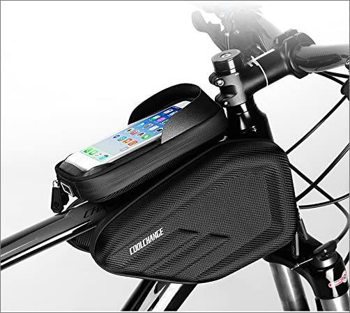 Skysper 自転車 フレームバッグ Touch ID対応できる フロントバッグ