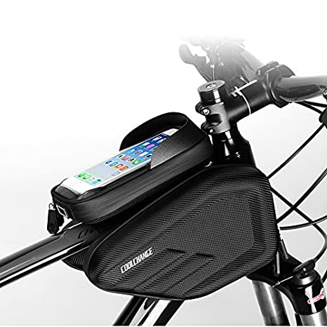 Bicycle Front Frame Bag Bike Tube Pouch High-capacity Waterproof Saddle Bag UK