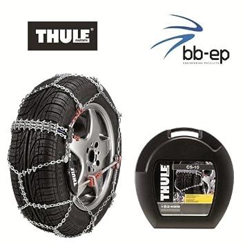 Thule CS-10 - Cadenas para Nieve, eslabones de 10 mm, para neumáticos 205/55 R16: Amazon.es: Coche y moto