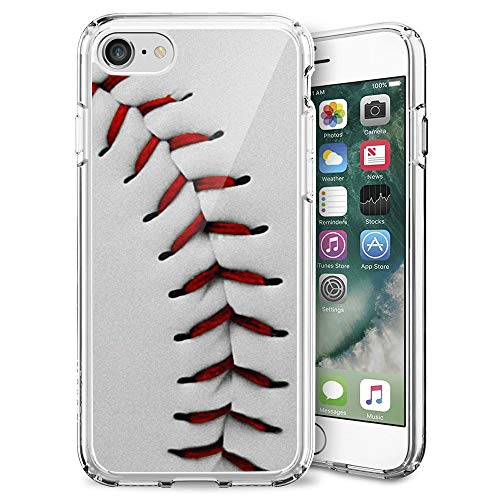 - Design Case for iPhone 7 8,Merciey Clear TPU Baseball Sports Personalized Customization Pattern Protective Cover, iPhone 7 8 Case