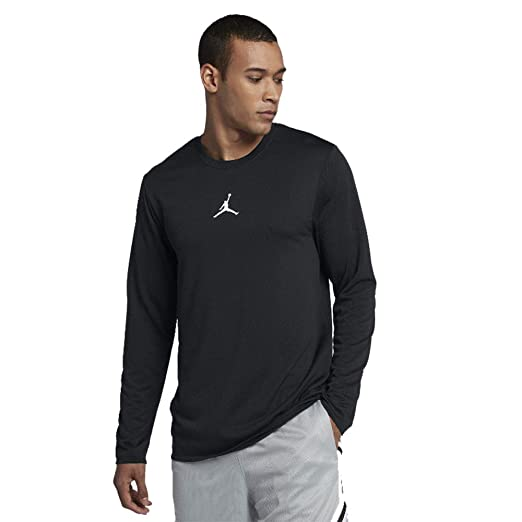 ec0634e7890261 Nike Jordan Ultimate Flight Performance Basketball Long Sleeve Shirt 899373  010 405 (Black